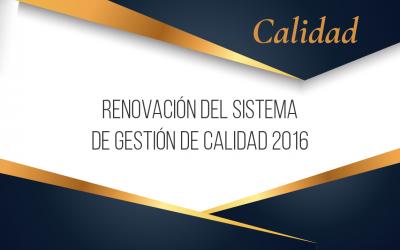 Hna. Nubia Teresa Barco Jurado, Rectora del Colegio, recibe Certificado de Renovación del SGC 2016 por parte de ICONTEC