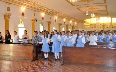Eucaristía Inicio II semestre académico Bachillerato