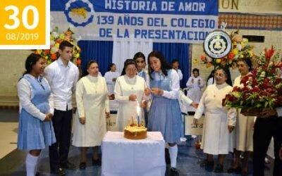 ¡Felicitaciones en tu cumpleaños 139 amado Colegio de La Presentación!
