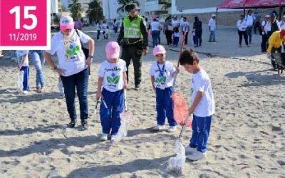 """Preescolar Presentación En La Limpieza De La Playa """"Los Cocos"""""""